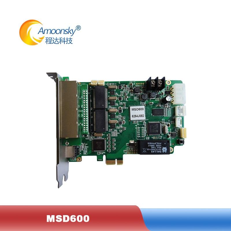 High feedback Nova msd600 rgb led sending control card for full color led indoor display outdoor