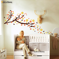 DIY Cherry Tree Vinyl Wall Stickers removable home decor For Living Room Baby Nursery Bedroom Home Decor Mural Wallpaper