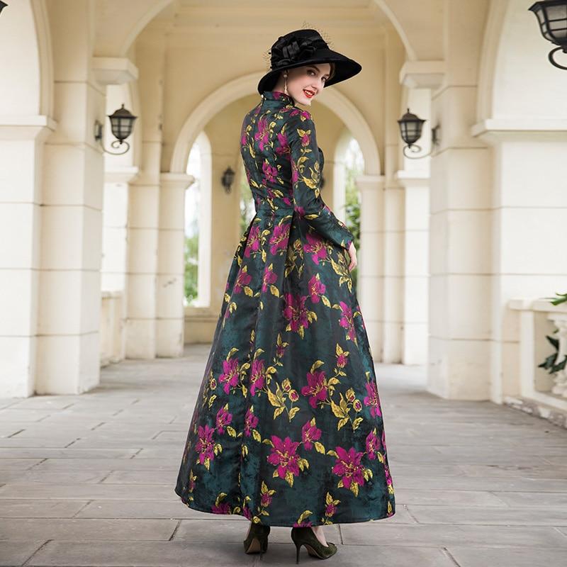 13a885a60579 Best Quality Women Long Dress 2018 Autumn Winter Maxi Dress Ladies Vintage  Flower Print Long Sleeve Party Evening Maxi Dress 3xl