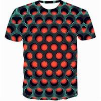 Красочная Мужская футболка Веселая Футболка 2019 с принтом Иллюзия черно-белая графика пуловер с круглым вырезом Женская 3D футболка