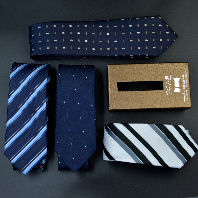 New Style Men Ties Designer Fashionable Design MenS Business Suits Tie 7Cm Korean Casual Striped Suit