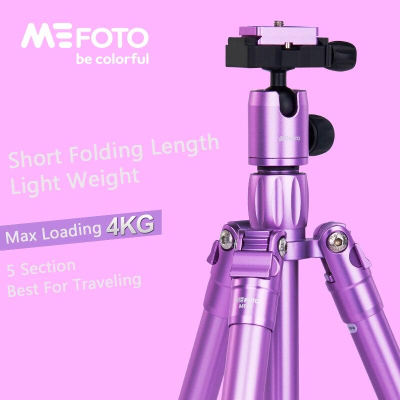 MeFoto MF05 trépied réflexed monopode Selfie bâton Mini Portable trépied pour caméra avec tête à bille 5 Section DHL livraison gratuite