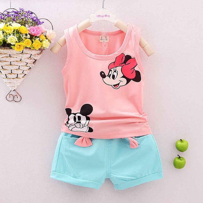 Pudcoco 2019 Baru 2 Pcs Balita Bayi Anak-anak Bayi Anak Perempuan Pakaian Kaos Atasan + Celana Pakaian Set