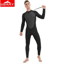 цена на SBART 3MM Neoprene Scuba Diving Surfing Wetsuit Men Warm Full Body Spearfishing Wet Suit For Triathlon Kitesurfing Jumpsuit