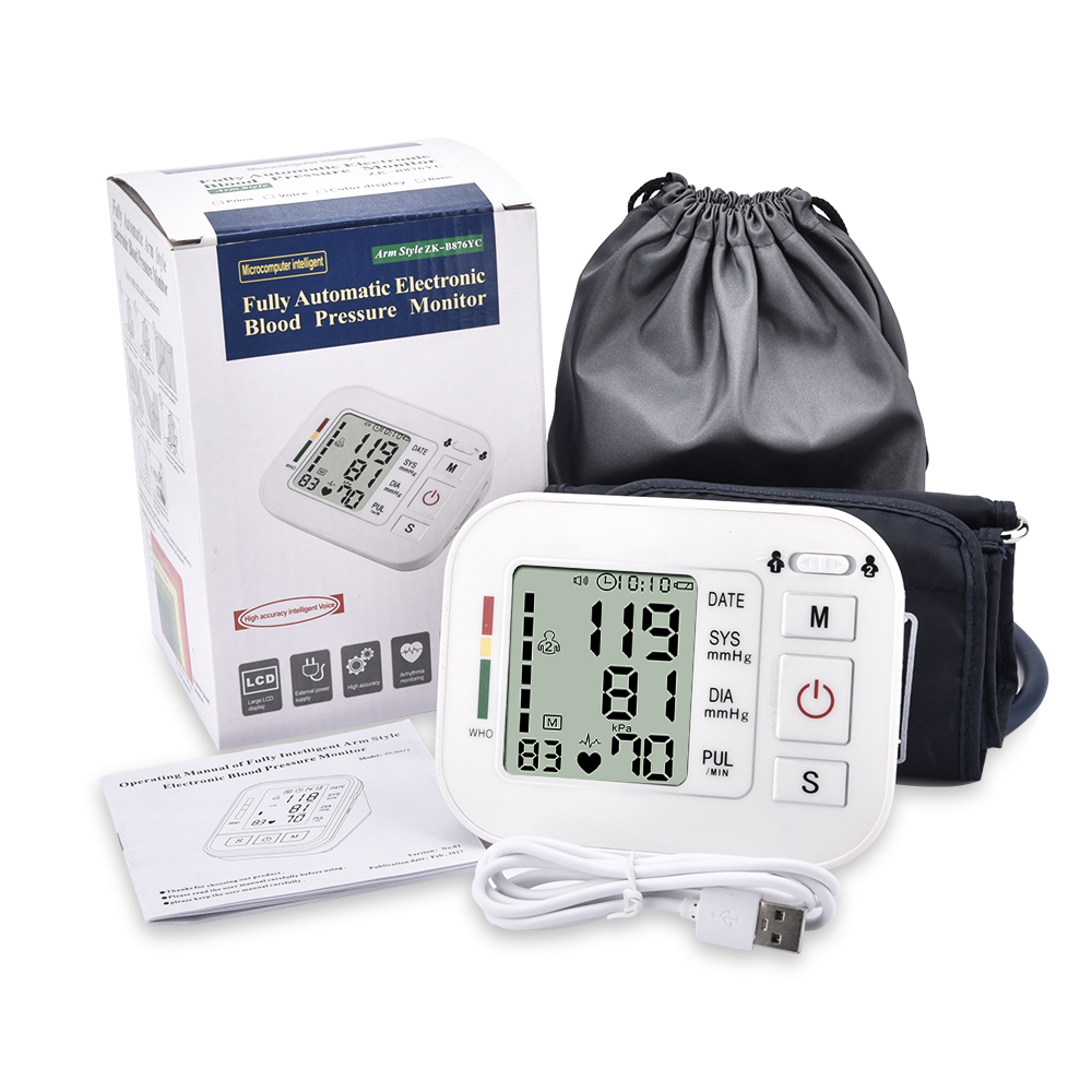 Electronic Blood Pressure Cuff >> Fully Automatic Digital Upper Arm Blood Pressure Monitor Medium Cuff