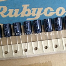100pcs 470uF 25V Rubycon ZL Series 10x16mm Low Impedance High Ripple Current 25V470uF capacitor