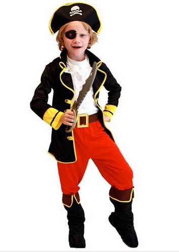 kids boys pirate costumes/cosplay costumes for boys/halloween cosplay costumes for kids/children cosplay