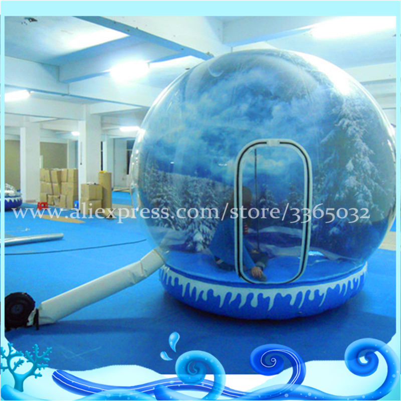 Customized Inflatable Snow Globe Photo Booth Christmas Decoration Items Inflatable Human Size Snow Globe For Sale free shipping 3x3x2 4m inflatable photo booth cube inflatable photo booth led inflatable photo booth for sale