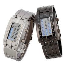 Nuevos hombres de la moda de acero inoxidable LED reloj de los deportes y de ocio elevación militar relojes relogio feminino montre femme relogios