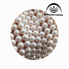 MADALENA SARARA 9-10mm AAA  Freshwater Pearl Necklace Little Blemish Pearl Beaded Strand  Without Clasp For Diy Jewelry Making