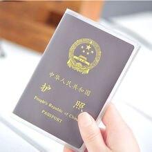 Дорожный водонепроницаемый грязезащитный чехол для паспорта прозрачный ПВХ ID держатель для карт s бизнес кредитный держатель для карт чехол