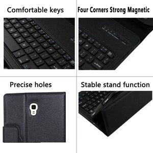 Image 4 - Keyboard Case for Samsung Galaxy Tab A 10.5 2018 SM T590 SM T595 T590 T595 Case Keyboard for Samsung Tab A 10.5 Cover + Keyboard