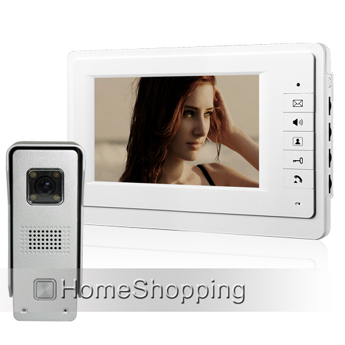 все цены на  FREE SHIPPING BRAND NEW 7 inch Color Home Video Intercom Door phone System 1 White Monitor 1 Doorbell Camera IN STOCK WHOLESALE  онлайн