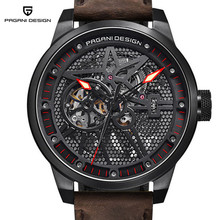 New Men Watch Fashion Luxury Brand Pagani Leather Tourbillon Watch Automatic Wristwatch Men Mechanical Watches Relogio Masculino цена в Москве и Питере
