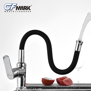 GFmark Silica Gel Nose Any Direction Rotating Kitchen Faucet Cold And Hot Water Mixer Crane Taps Torneira Cozinha Brass Tap Трубопроводный кран