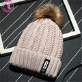 Korean New Hat Female winter Plus Thick Velvet Wool Women's Hats Pink Caps with Puffer Ball Headgear for Women