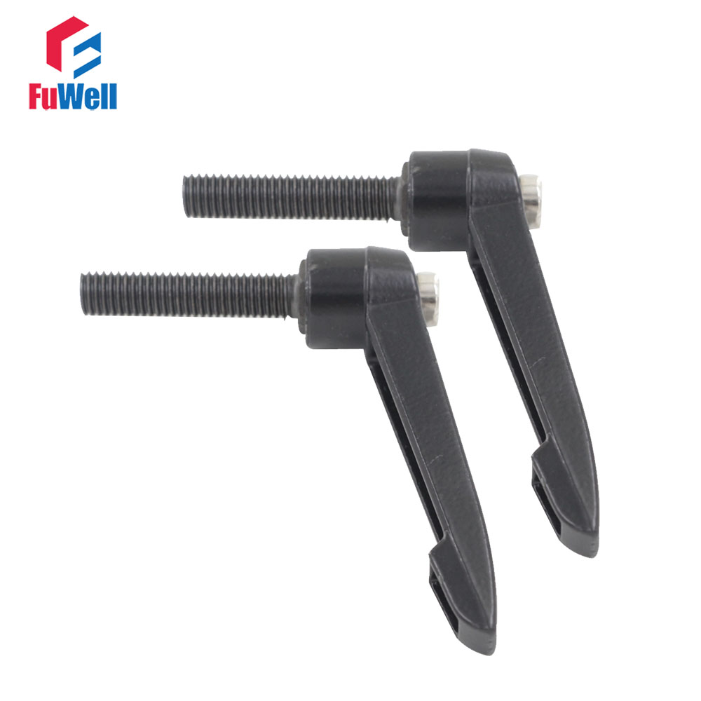 2pcs M10 x 50mm Thread Length Adjustable Handle Machinery Tools 10mm Thread Dia. 50mm Thread Length Knob Clamping Handle Lever austria ruwido i 1k 100k 220k 470k axis length 50mm