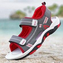 ULKNN Boy Sandals 2020 Summer New Fashion Boy Student Child Slip Soft bottom Child Open Toe Sandals