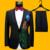 Plus Size Homens Ternos (paletó + Calça) S-4XL Moda Preto Paillette Bordado Cantor Masculino Magro Desempenho Traje Do Partido Do Baile de Finalistas