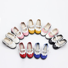 1 Pair Lace up PU Leather Lolita Strap Shoes Block Heel Shoe