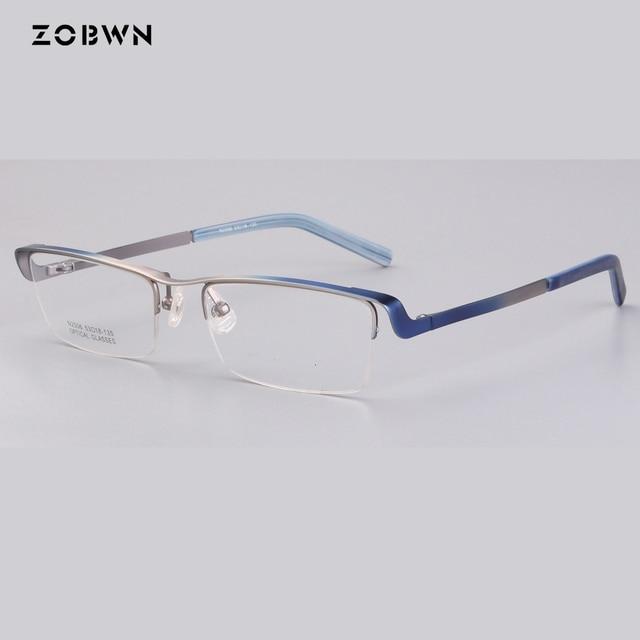 cc957f384c9 Classic half optical Eyeglasses Optical Glasses Frame for Men Eyewear  Prescription Semi-Rimless Spectacles Oculos masculinos mix