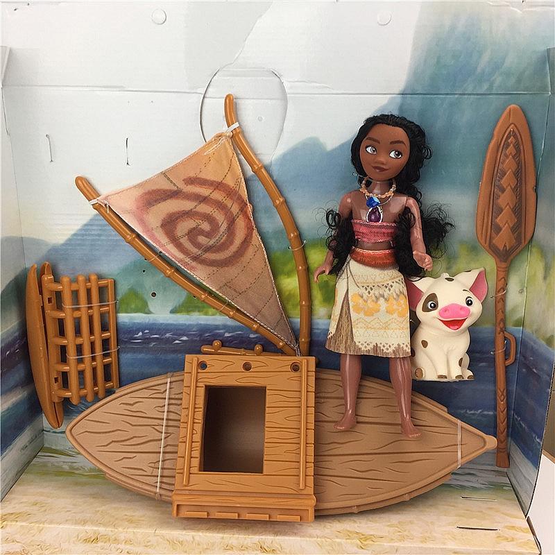 sailboat Moana figures 11 lovely moana dolls Maui Chick Handan Spotted Pig Action Figures Toys Model For Girls Christmas Gift 12pcs set children kids toys gift mini figures toys little pet animal cat dog lps action figures