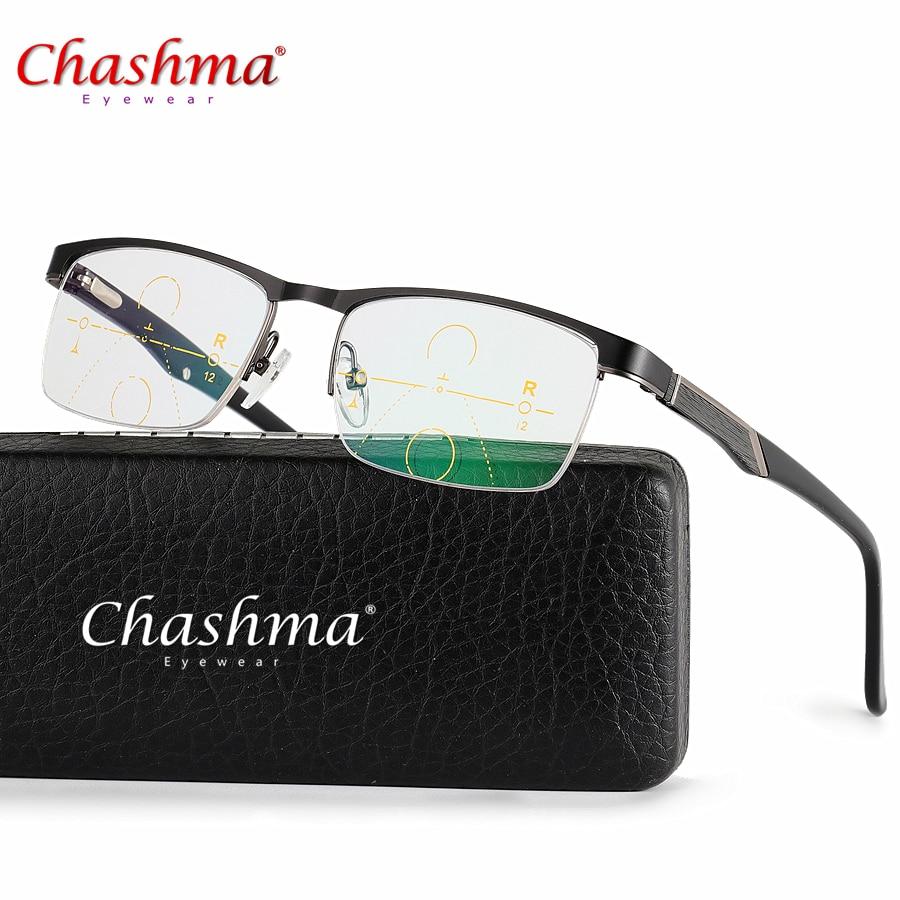 Titanium Alloy Multi-Focal Progressive Commercial Reading Glasses Men Diopter Glasses Presbyopic Eyeglasses Gafas De Lectura