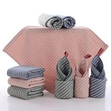 3 цвета, чистый хлопок, полосатое полотенце с микрофиброй, квадратное детское впитывающее полотенце, полотенце для волос для детей, домашнее полотенце для рук, Текстиль