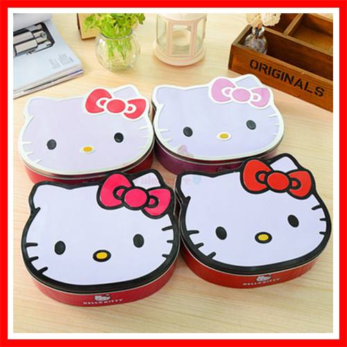 1c5f3d624 Hello Kitty Kawaii Tin Box With Lid For Candy Cookie Macaron Sundries  Storage Gift Packing Tin Box Decorative Tin Box In Home