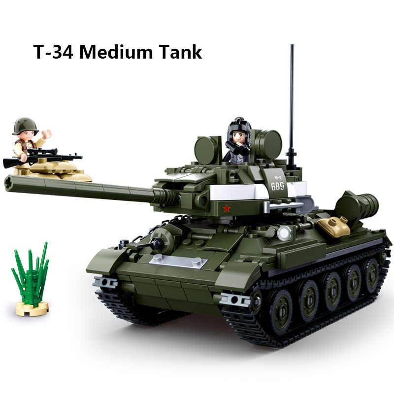 Блоки 2-ой мировой войны военный автомобиль совместим legoing панцирный Танк самолет Грузовик jeep ww2 Пособия по немецкому языку Советский армии строительные блоки игрушки
