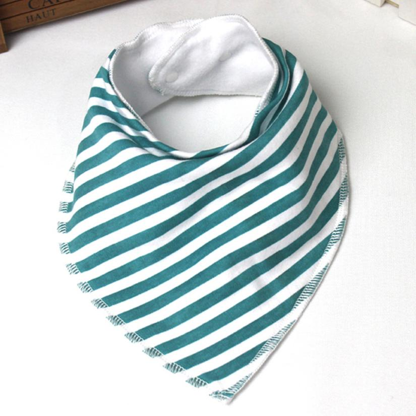 BMF TELOTUNY Fashion Baby Kids Cloth Striped Bandana Bibs Pack Feeding Saliva Towel Waterproof Apr6 Drop Ship