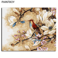 Oil Painting Frameless Picture Painting By Numbers Flower And Bird DIY Digital Canvas Oil Painting Home