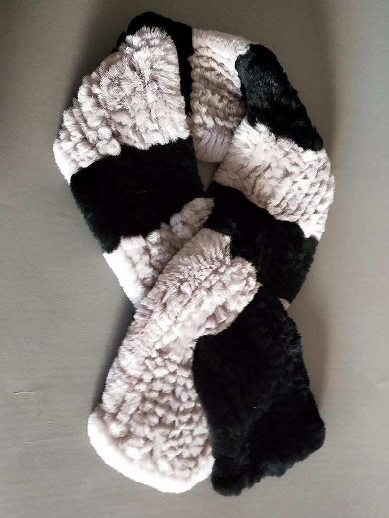 Natural Fur Scarf Women Winter Real Rex Rabbit fur Scarves cachecol bufandas New arrival muffler thermal Soft (12)