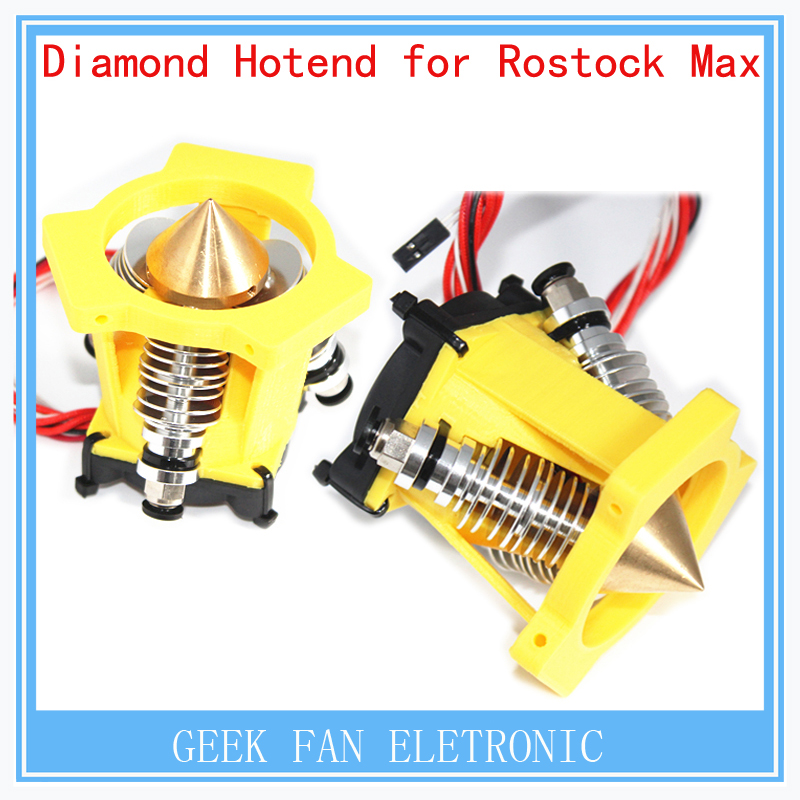 ФОТО Extruder full kit-Lite6 Brass Multi Color Nozzle 3 IN 1 OUT 0.4mm For 1.75mm Diamond Hotend for Rostock Max