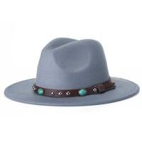 2017 New Men Women Wool Felt Sombrero Cap Fedora Hat Western Cowboy Cowgirl Cap Jazz Hat