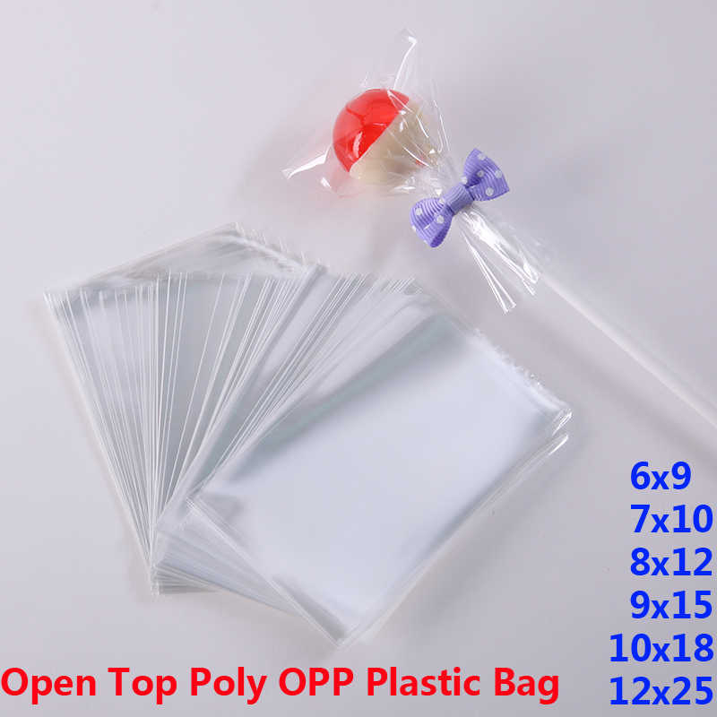 Clear Poly OPP Plastic Packaging Bags Small Plastic Baggie Party Bag for Candy Cookie Toy Jewelry Soap Packing Gift Pouch Favors