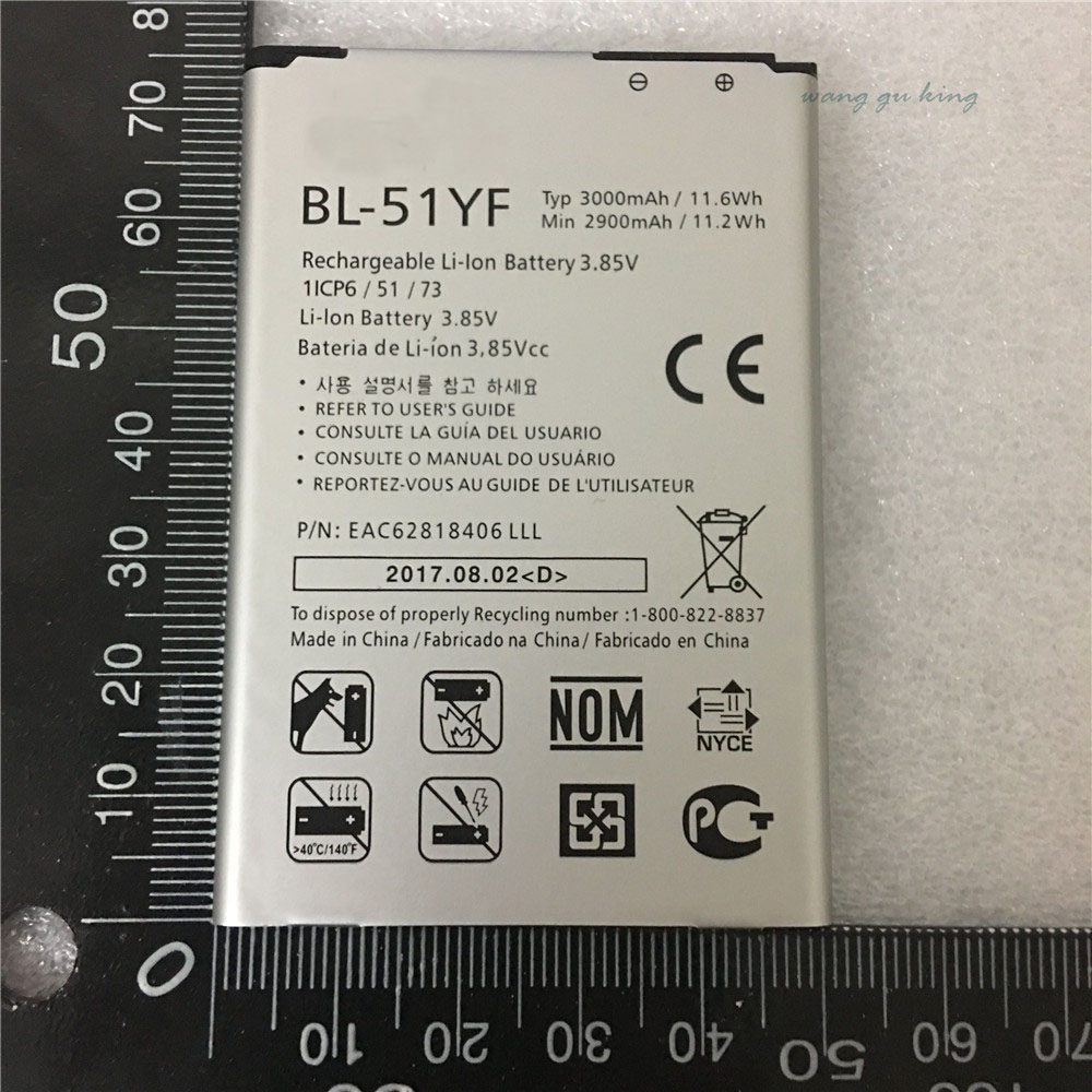 NEW 100% BL-51YF Phone Battery For LG G4 H815 H818 H810 VS999 F500 Real 3000mAh High Quality Mobile Replacement Battery