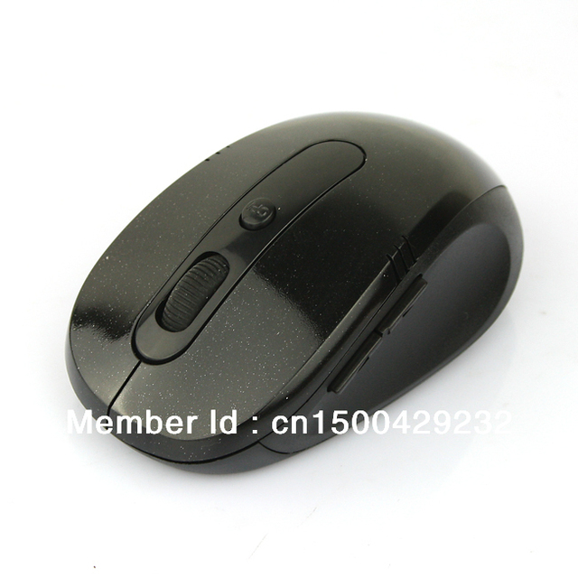 10M 2.4G Wireless Optical USB Mouse for Laptop PC Black