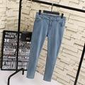 4XL 5XL 6XL Plus Size Women Denim Jeans Casual Trousers Slim Pencil Pants Jeans KK1826