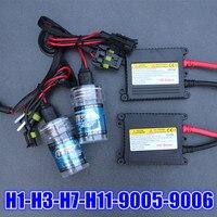Оптовая продажа XENON DC HID Conversion Kit 12 В 55 Вт H1 H3 H7 H11 9005 9006 880 881 лампы тонкий балласта фары автомобиля лампа