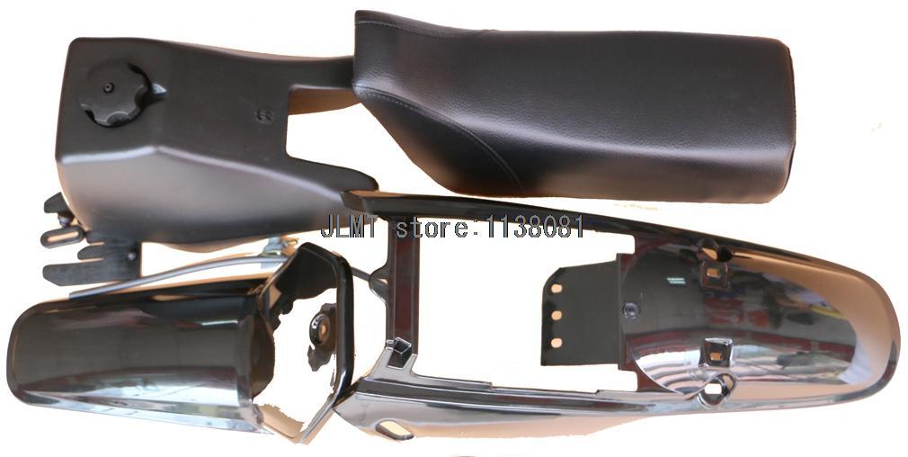 Carrosserie En Plastique Carénage Kit Carrosserie pour Yamaha PW80 PY80 PEEWEE PY PW 80 pare-chocs en plastique Corps Siège réservoir de carburant Kit