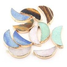 4 цвета Настроение ФОРМА натуральный камень кулон DIY для ожерелья или ювелирных изделий
