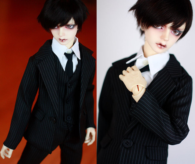 Fashion three- piece  suit  For BJD 1/3 1/4 SD17 uncle  Doll Clothes Accessories