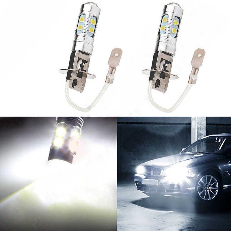2PCS Set H3 60W High Power LED Xenon White Fog Light Bulb 6000k 10SMD Lamp