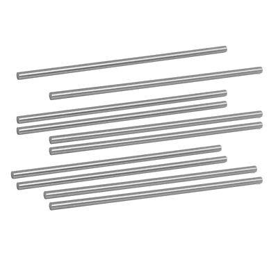 3mm Dia 100mm Length HSS Round Shaft Rod Bar Lathe Tools Gray 10pcs