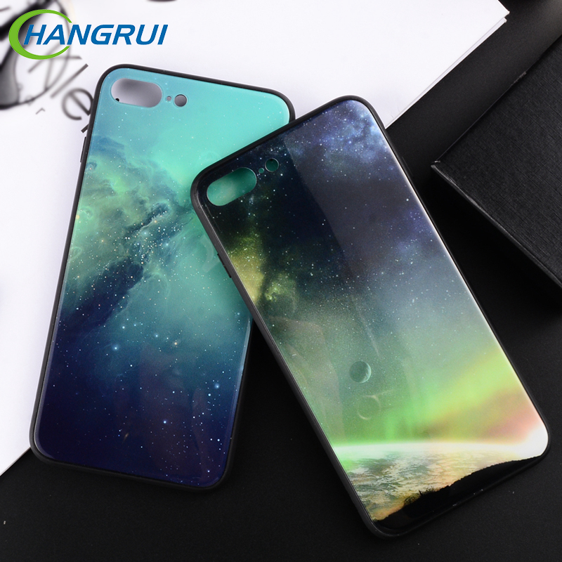 Cellphones & Telecommunications Fashion Cool Tempered Glass Phone Case For Iphone X Planet Stars Glass Back Cover For Iphone 6 6s 7 8 Plus Space Moon Shell