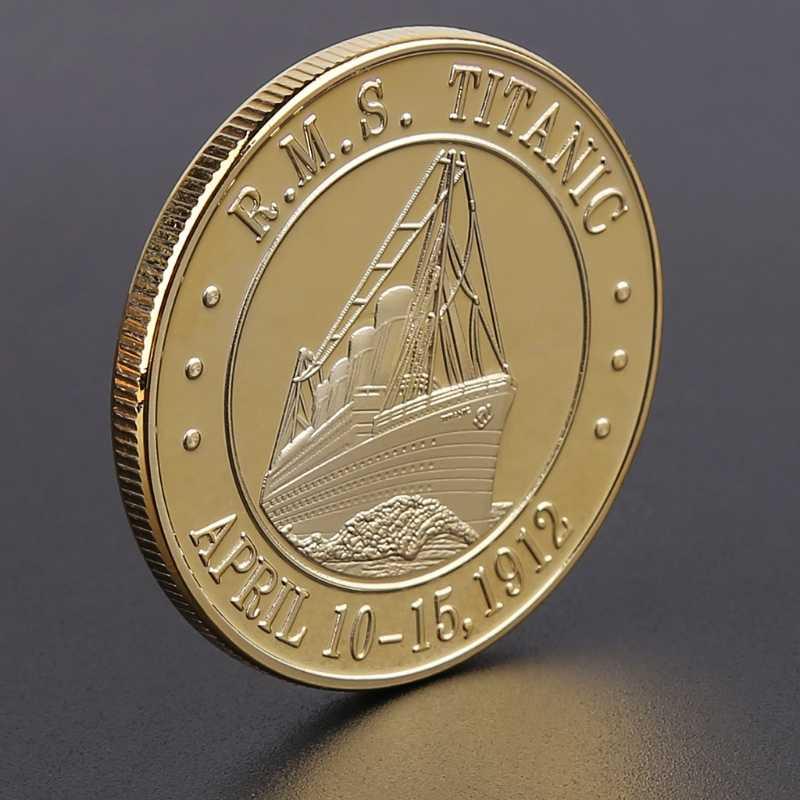 Collection de bateau de Titanic Incident Arts | Pièces commémoratives, décor de maison, pièces de monnaie Non monnaies plaquées en or