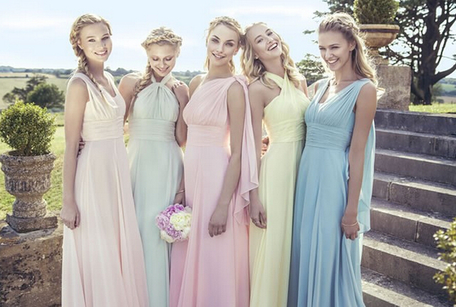 sage mint green candy pink colored chiffon prom party dresses fashion 2016 bridesmaid dress long size 4 6 8 10 12 14 16 20