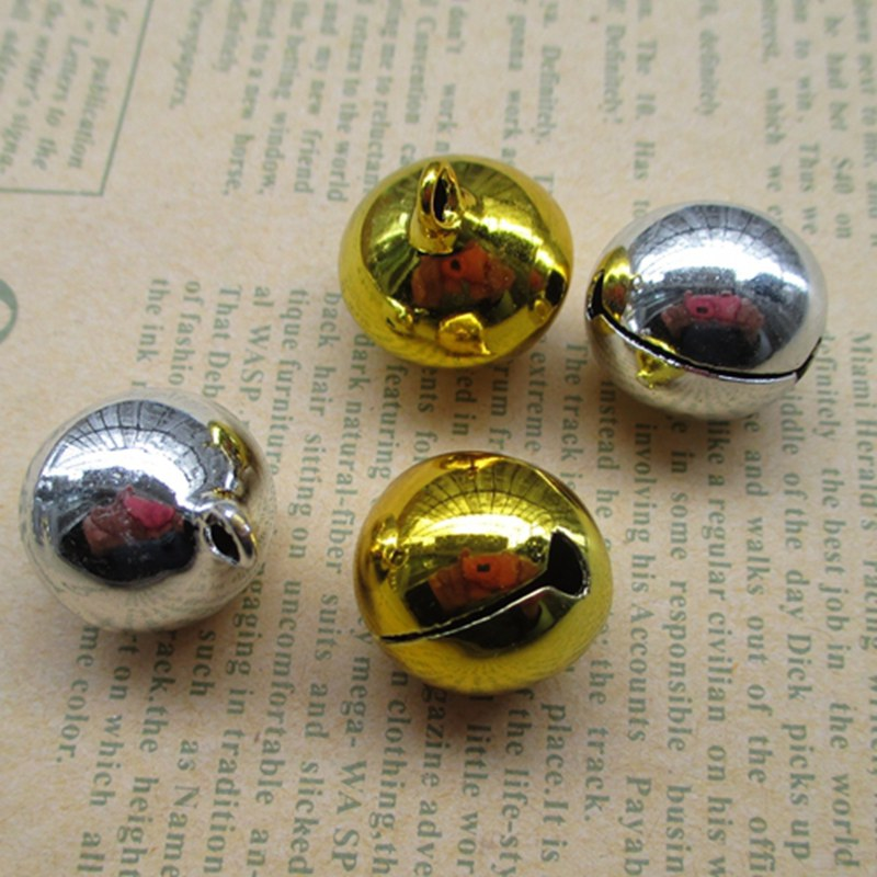 24 Pcs 20mm Small Bell Craft Jewelry Wedding Charms Bead Gold Silver Optional 011020 China