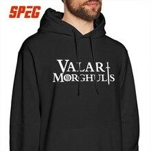 Men Hooded Sweatshirts Game Of Thrones Hoodies Valar Morghulis All Men Must Die Arya Stark 100% Cotton Graphic Vintage Pullovers цена и фото